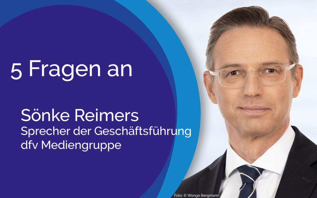 5 Fragen an Sönke Reimers